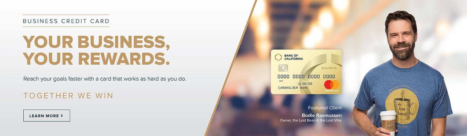 business credit card slider