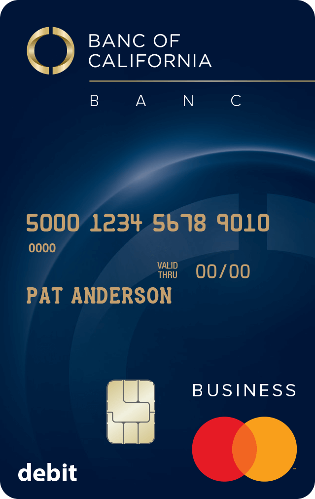 Banc of California Business Debit MasterCard