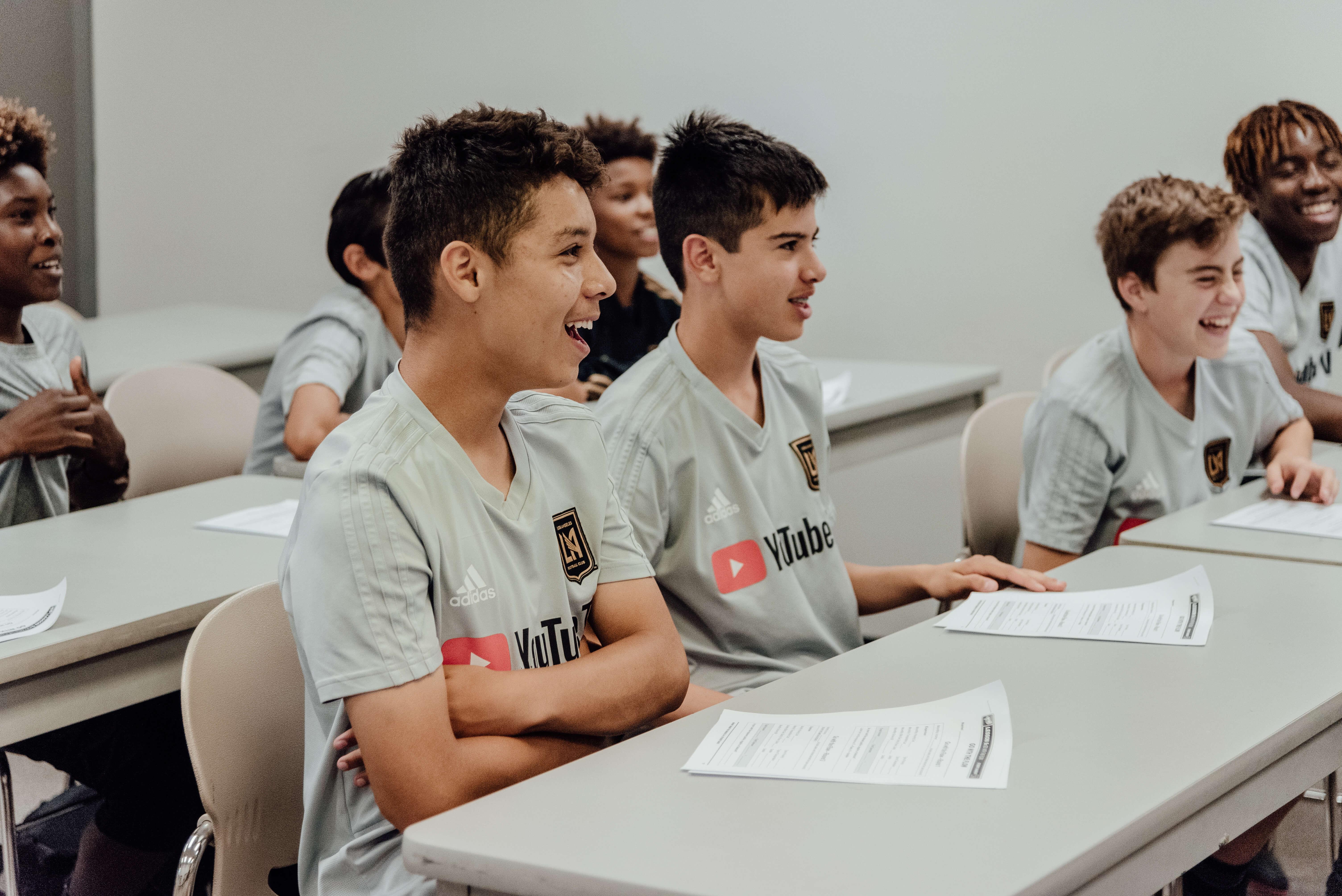 LAFC Academy kids