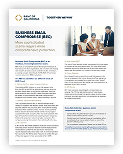 Business Email Compromise (BEC) Article