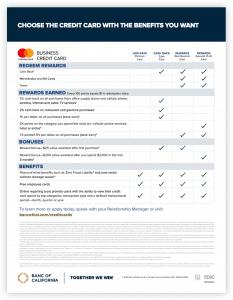 BoC Credit Card Comparison