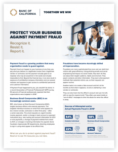 Protect your business against payment fraud