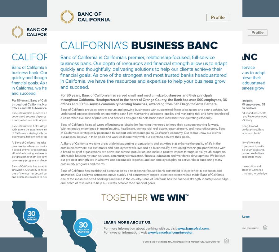 CA's Business Banc 2021