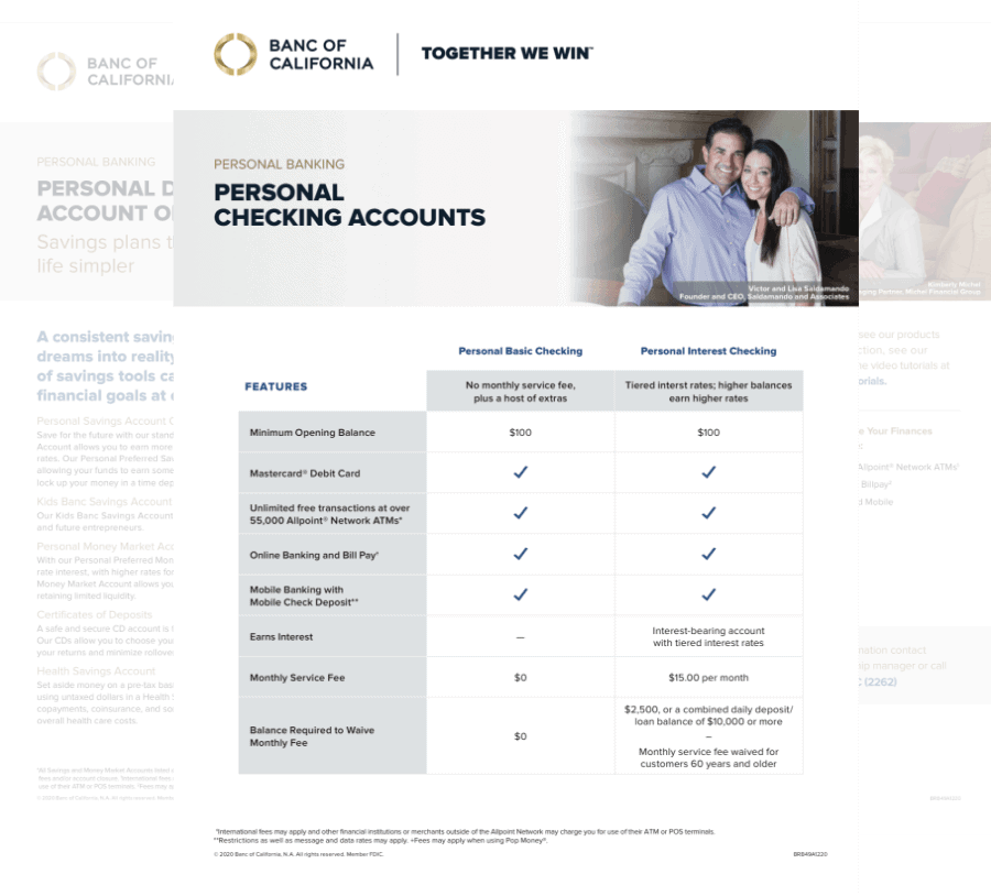 Personal Banking Products